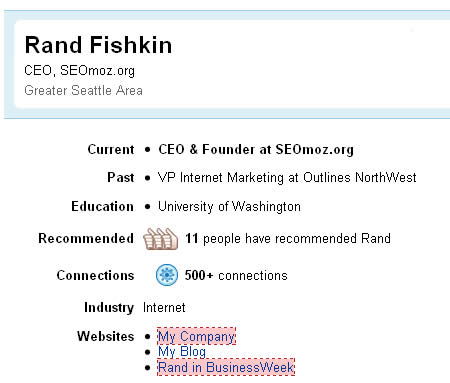 Rand's mix of followed and nofollowed links.